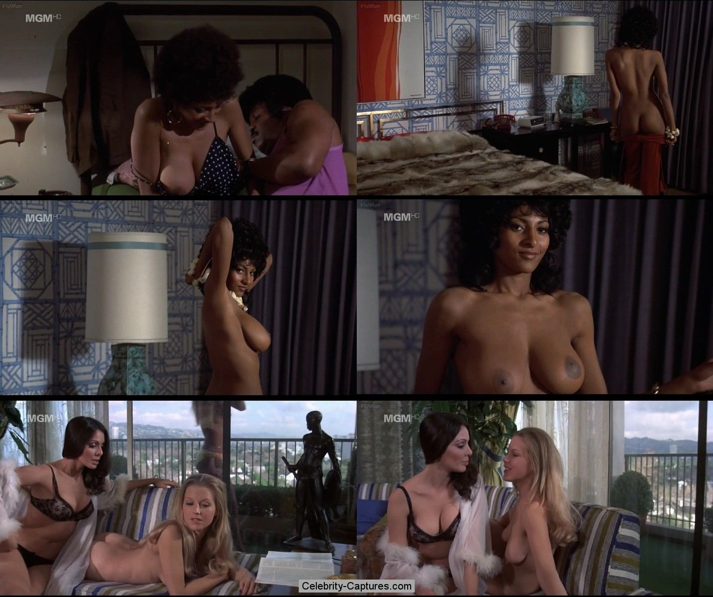 busty pam grier and a couple of others nude in coffy