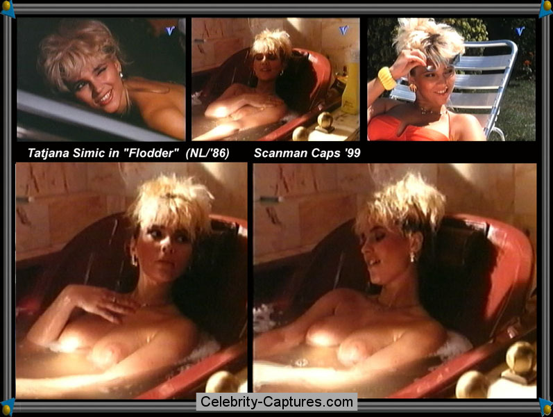 Tatjana Simic naked movie captures from Flodder